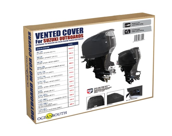 Oceansouth Outboard Motor Vented Cover for Suzuki